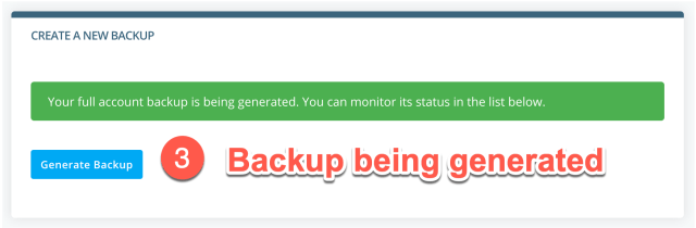 take a full wordpress backup in scala spanel part 3