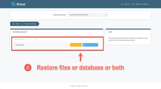 comment restaurer la sauvegarde wordpress dans scala spanel partie 2