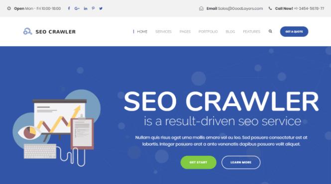 SEO Crawler - Thème WordPress pour le marketing de référencement