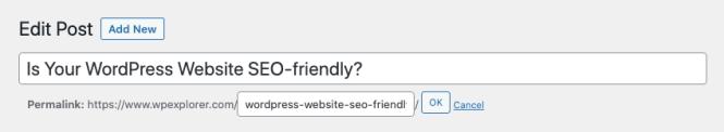 Slugs d'URL optimisés pour le référencement