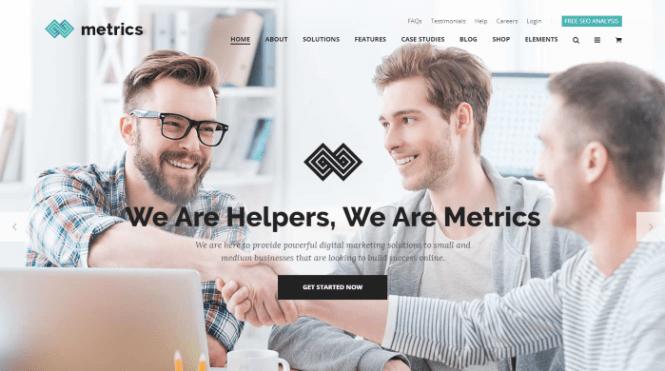SEO Metrics - Thème WordPress pour une agence de marketing numérique