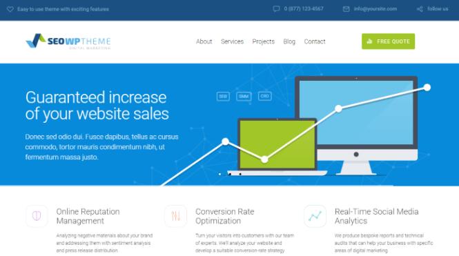 SEO WP - Thème WordPress pour une agence numérique