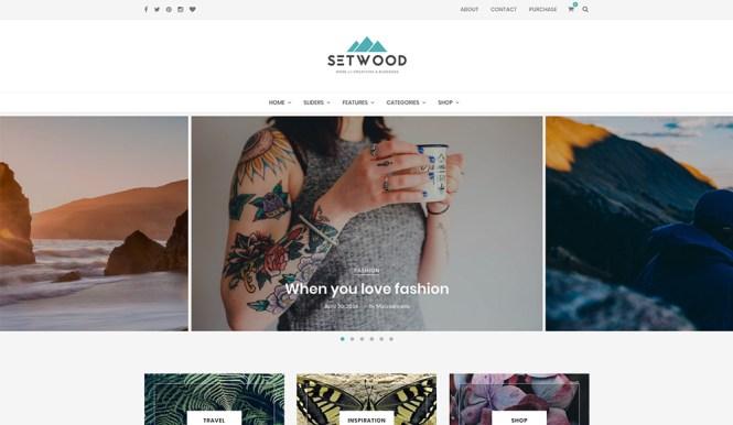 Setwood Thème WordPress pour le commerce électronique