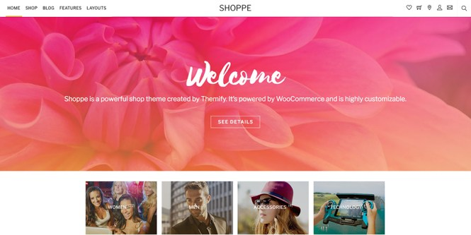 Thème WordPress Shoppe WooCommerce