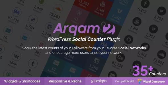 Plugin de compteur social pour WordPress - Arqam