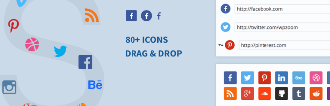Widget d'icônes sociales par WPZoom