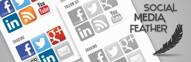 Réseaux sociaux Feather Sharing Buttons Plugins pour WordPress
