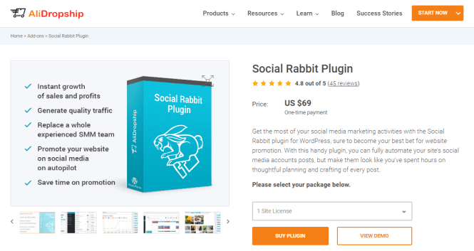 plugin wordpress de lapin social