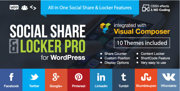 Partage social et plug-in WordPress Locker Pro