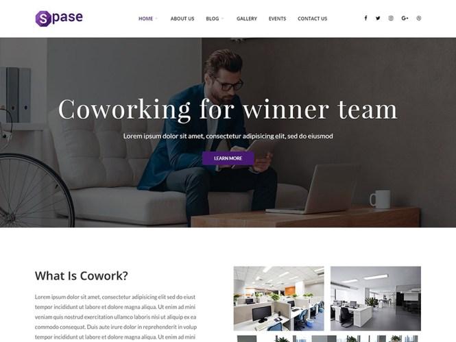Thème WordPress de Spase Business et Coworking