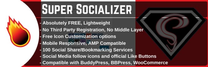 WordPress Partage social, Connexion et commentaires sociaux - Super Socializer