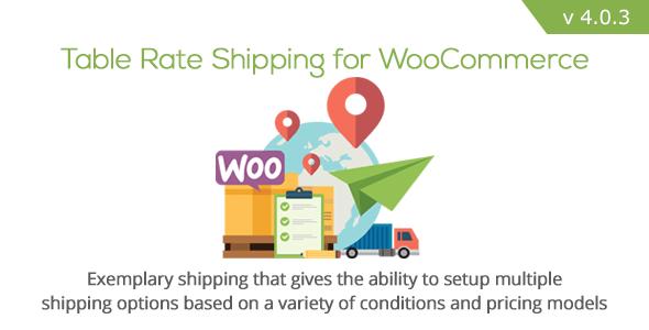 Tabla de envío de tarifa para WooCommerce