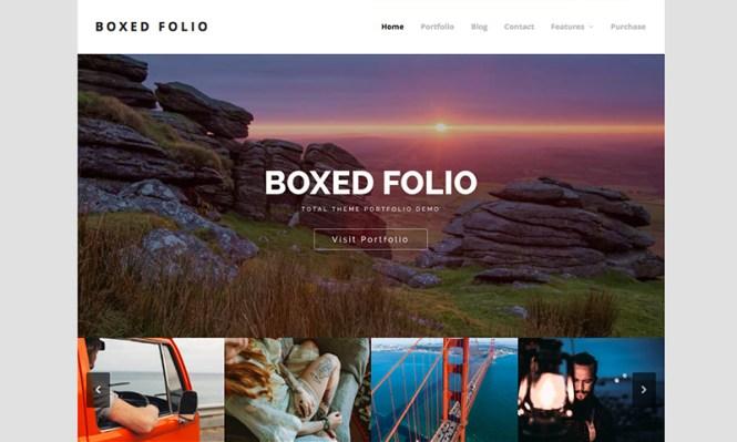 Total Boxed Porfolio Thème WordPress Démo