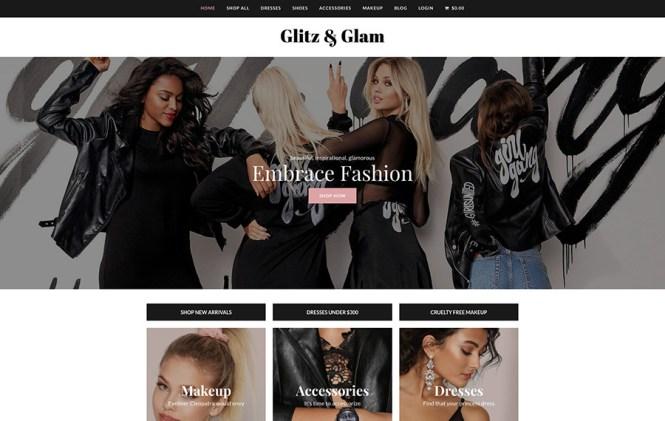Démonstration WordPress Total Glitz & Glam Ecommerce