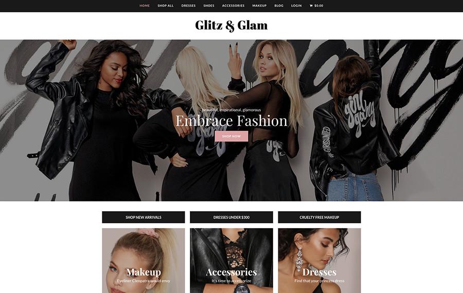 Total Glitz & Glam Электронная торговля WordPress Демо