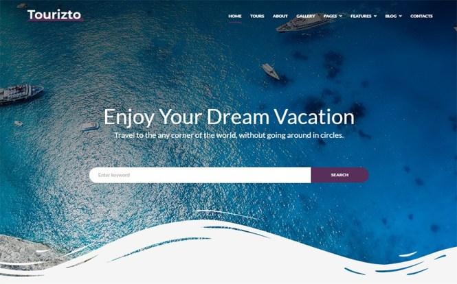 Thème WordPress Tourizto Travel Company Elementor