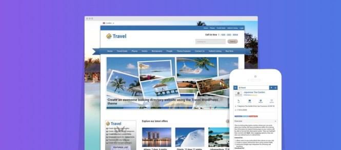 Thème WordPress pour enfant de Répertoire des offres de voyage