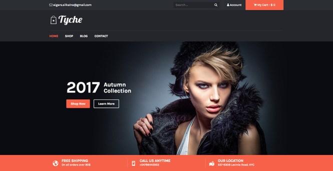 Tyche Thème WordPress gratuit pour le commerce électronique