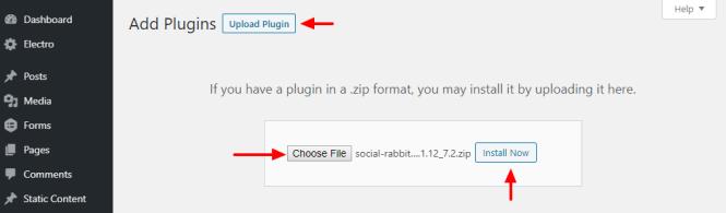 Télécharger le plugin wordpress de lapin sociale
