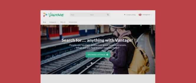 Thème Vantage Business Directory