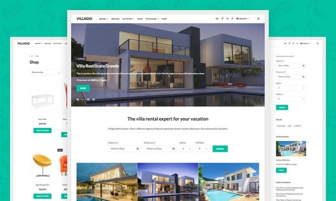 Thème WordPress pour Villagio Vacation Rental & Hospitality