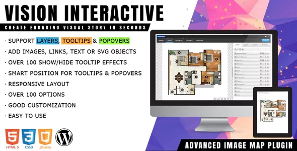 Vision Interactive - Image Map Builder para WordPress