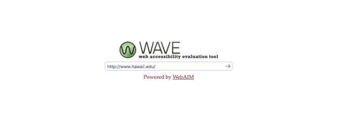 Outil d'évaluation de l'accessibilité Web WAVE