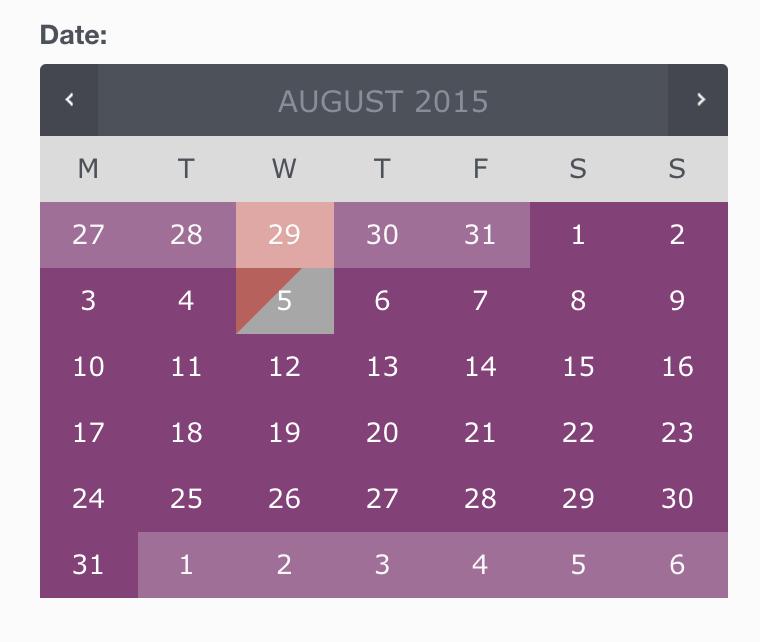 календарь доступности бронирований woocommerce