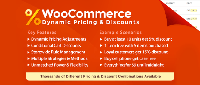 WooCommerce Dynamic Prix et réductions Plugin WordPress Premium