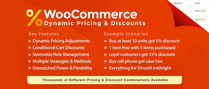 Precios dinámicos y descuentos de WooCommerce Premium WordPress Plugin