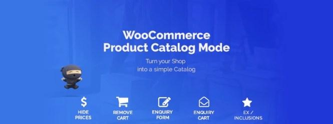 Mode de catalogue de produits WooCommerce et formulaire de demande