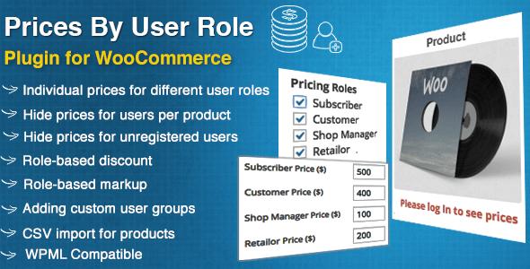 Precios de WooCommerce por rol de usuario Complemento de WordPress Premium