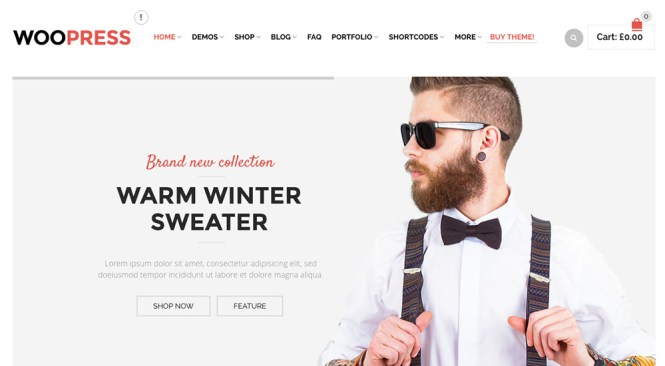 WooPress Thème WordPress pour le commerce électronique