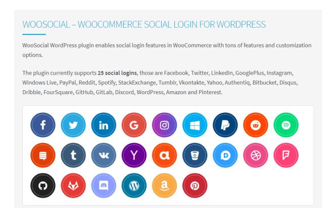 woosocial wordpress plugin de connexion sociale