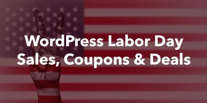 WordPress Ventes de la fête du Travail, coupons et offres