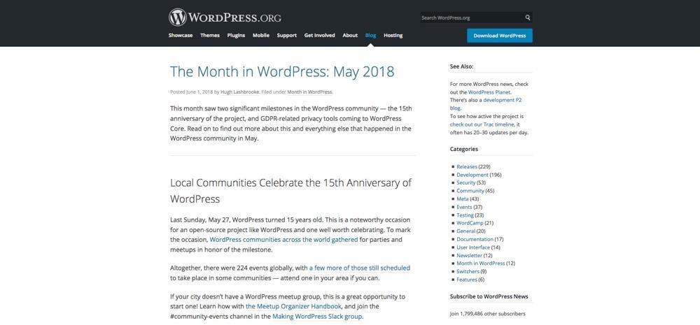 WordPress Blogs You Should Follow - WordPress.org