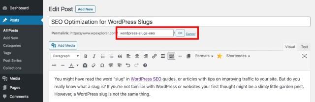 WordPress Slug Settings
