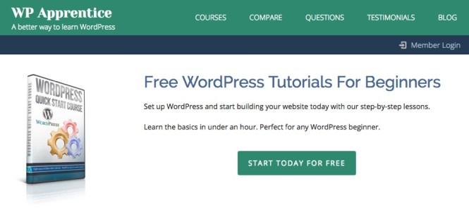 Cours de démarrage rapide WordPress par WP Apprentice