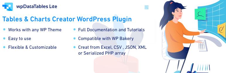 wpDataTables Lite - плагин для таблицы WordPress