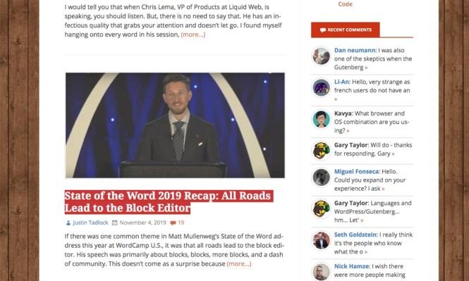 Commentaire sur les articles du blog