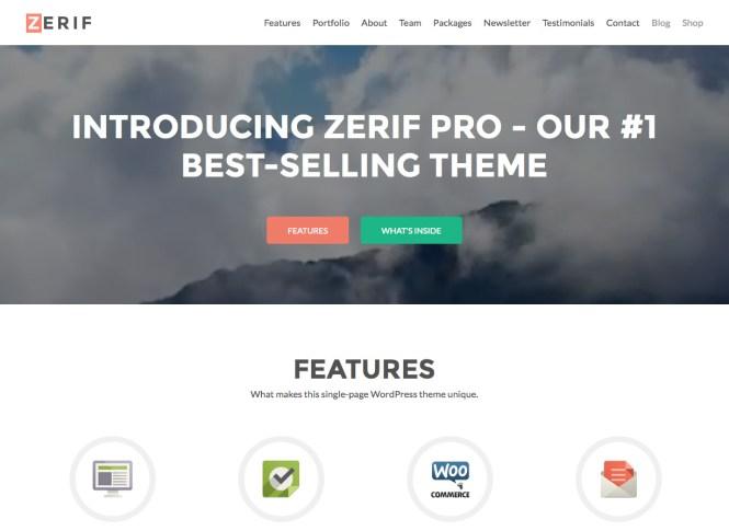 Thème WordPress Zerif Pro Business