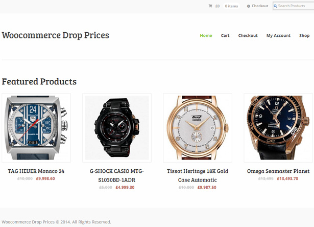 Shop with drop price products