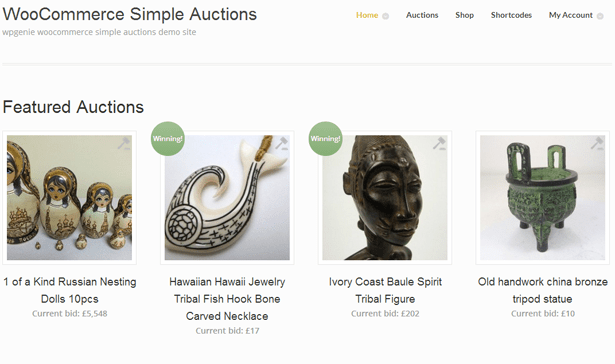 WooCommerce Simple Auctions - WordPress Auctions 2