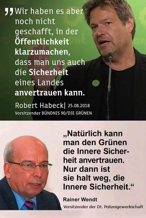 Rainer Wendt vs Robert Habeck
