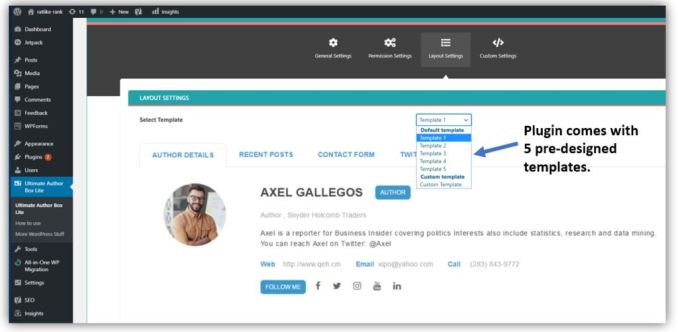 How to Install and Configure Ultimate Author Box Lite Plugin on WordPress