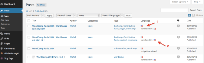 xili-language-posts How to Build a Multilingual Site in WordPress