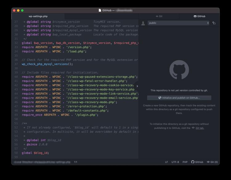 Integración de GitHub de Atom.