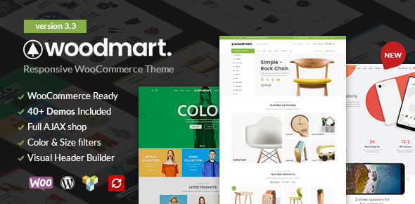 WOODMART V3.3 – RESPONSIVE WOOCOMMERCE WORDPRESS THEME