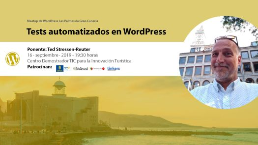 Cartela Meetup Tests automatizados en WordPress