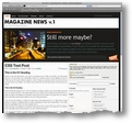 Una preview del tema Magazine News per WordPress